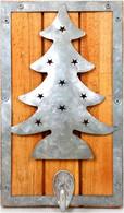 "Wood and metal hook - tree design 5""x8"""