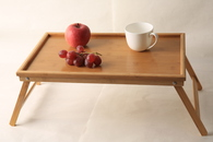 "Bamboo serving tray with folding legs 20""x12""x1.5"""