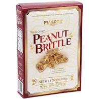 Mascot thin & crispy peanut brittle 142 gr., 12/cs - KOSHER
