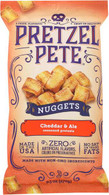 Pretzel Pete Seasoned Nuggets - Cheddar & Ale 270 gr., 12/cs