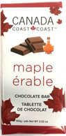 Canada Cost to Coast Maple Chocolate 100 gr., 24/cs