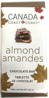 Canada Cost to Coast Almond Chocolate 100 gr., 24/cs