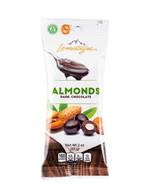 Lamontagne dark chocolate covered almonds 57 gr., 12/cs