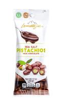 Lamontagne milk chocolate covered pistachios 50 gr., 12/cs
