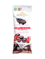 Lamontagne dark chocolate covered cranberries 57 gr., 12/cs