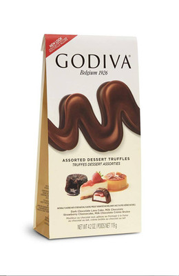 Godiva Assorted Dessert Truffles (Individually Wrapped) 119 gr., 6/cs
