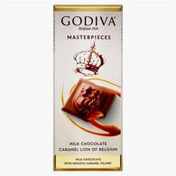 Godiva Masterpieces milk chocolate caramel LION BAR 83 gr., 10/cs
