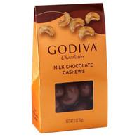 Godiva Milk Chocolate Covered Whole Cashews 57 gr., 10/cs