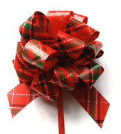 "5"" Pull Bows - 50 bows/case - Plaid"