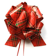 "8"" Pull Bows - 50 bows/case - Plaid"