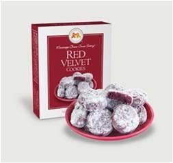 Mississippi Cheese Straws Factory - Red Velvet Cookies 28 gr., 36/cs