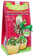 Too Good Gourmet Decorating Set - Cupcake 227 gr., 12/cs  Vanilla cake mix and holiday confetti sprinkles (frosting not included)
