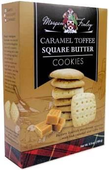 Morgan Finley CARAMEL TOFFEE Square Butter Cookies 156 gr., 12/cs