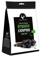 Happy Reindeer Organic Black soft Licorice 142 gr., 6/cs