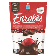 Rochef dark chocolate coated dried cranberries 120 gr.,  12/cs