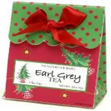 Too Good Gourmet 6 Tea Bags - Earl Grey Tea 24/cs Poinsettia Design