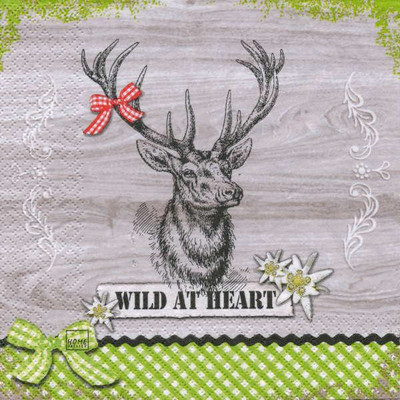 """Lunch napkins - Wild at Heart 6.5""""x6.5"""""""