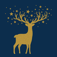 Lunch napkins - Gold Deer or Blue