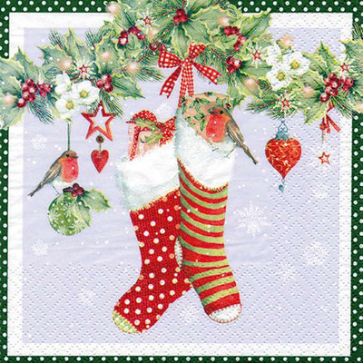 Lunch Napkins - Stockings