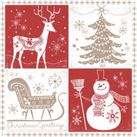 Lunch napkins - Christmas Patchwork