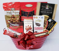 Christmas gourmet gift basket KIT includes 10 Items, plus Shredded paper, Cellophane bags and Pull bows  Do it yourself Gift Basket!  (Minimum 12)