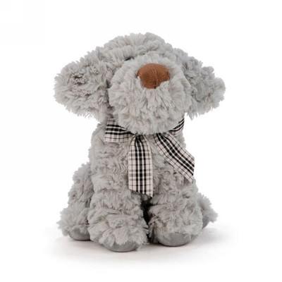 "Grey puppy plush 9"""