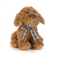 Brown puppy plush 9""
