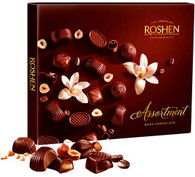 Roshen Assortment - Dark Chocolate 154 gr., 8/cs