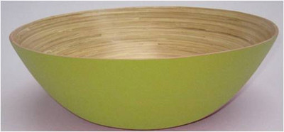 """16""""D Round bamboo bowl - Green"""