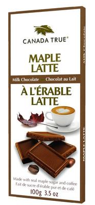 Canada True Maple Latte Milk Chocolate Bar 100 gr., 12/cs