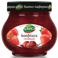 Lowicz strawberry jam 240 gr., 8/cs
