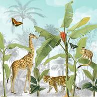 "Lunch Napkins - foliage & wild animals 6.5""x6.5"""