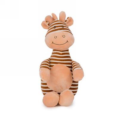 "Brown striped giraffe plush - approx 15""H"