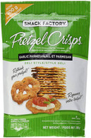 Snack Factory Pretzel Crisps Garlic - Parmesan 200 gr., 12/cs