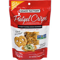 Snack Factory Pretzel Crisps - Everything 200 gr., 12/cs
