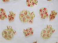 """Gold & Red Ornaments Printed Cellophane roll 40""""x100'"""