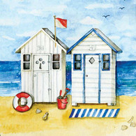 "Lunch Napkins - Beach House 6.5""x6.5"""