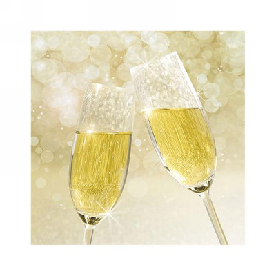 "Lunch Napkins - Champagne Glasses 5""x5"""