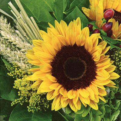 """Lunch Napkins - Sunflower 6.5""""x6.5"""""""