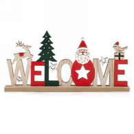 WELCOME decor in red & natural