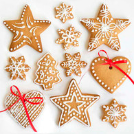 """Lunch napkins - Christmas Cookies 6.5""""x6.5"""""""