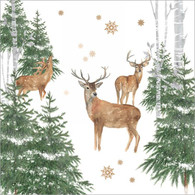 "Lunch napkin - deer in the forest 6.5""x6.5"""