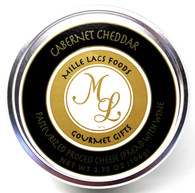 Mille Lacs shelf stable Cabernet Cheddar cheese spread in a tin 106 gr., 24/cs