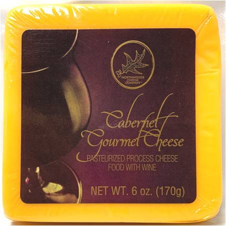 NORTHWOOD CHEESE SHELF-STABLE CABERNET GOURMET CHEESE 170 GR.,