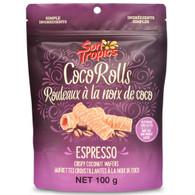 Sun Tropics Gluten & Dairy Free Coco Rolls - Espresso 100 gr., 12/cs