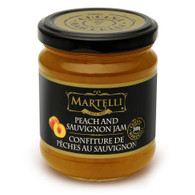 Martelli Peach and Sauvignon jam 240 ml., 6/cs