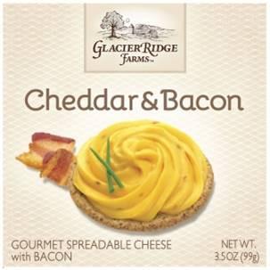 Glacier Ridge Farms Cheddar & Bacon Gourmet Spreadable Cheese 99 gr., 12/cs