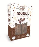 Truffettes de France CHOCOLATE COATED Nougat 80 gr., 12/cs  (8 Individually Wrapped pcs), Kosher
