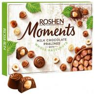 Roshen Moments - Milk chocolate pralines with whole hazelnuts 116 gr., 10/cs