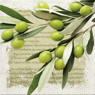 """Lunch Napkins - Green Olives 6.5""""x6.5"""""""